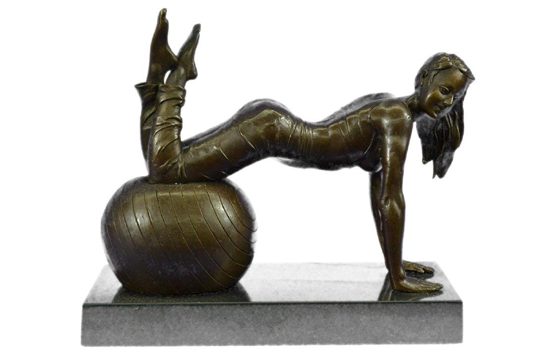 Exotic Stripper Nude Bronze Sculpture