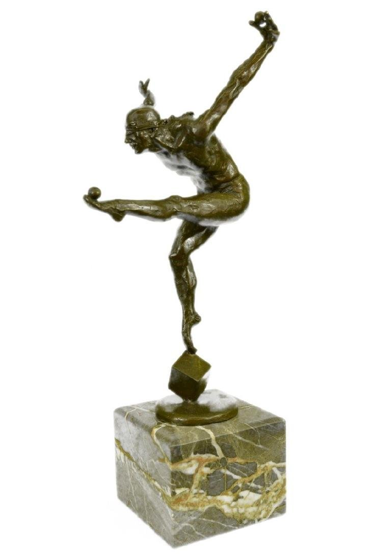 Nude Blind Folded Male Juggler Bronze sculpture