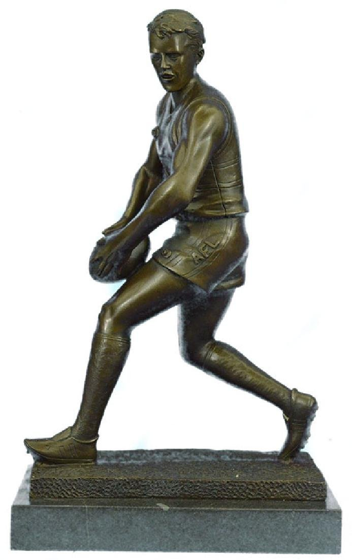 Olympic Rugby Player Bronze Sculpture