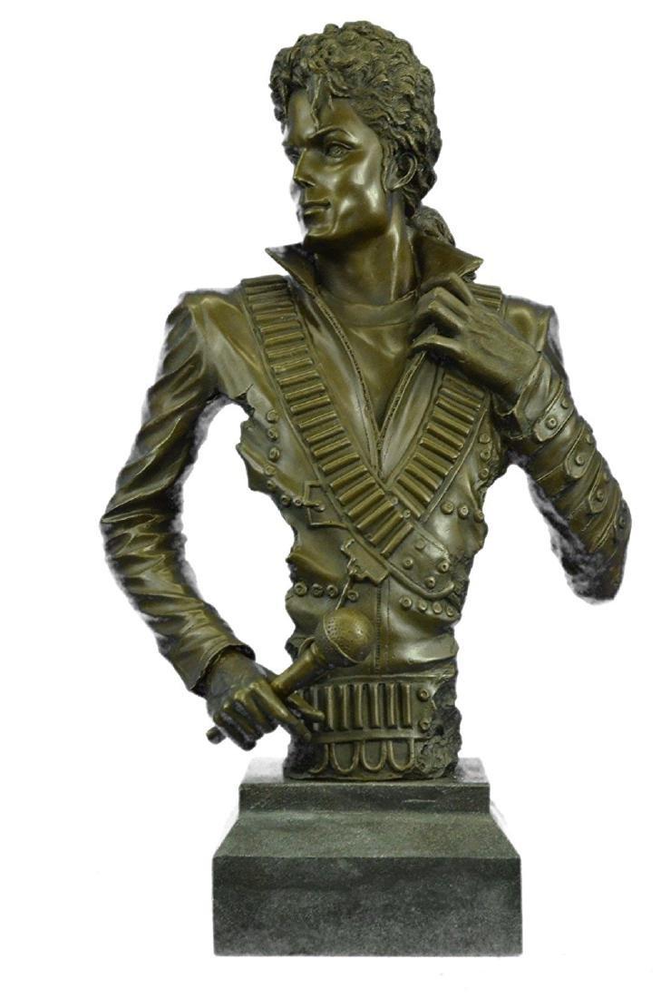 Michael Jackson Bronze Sculpture on Marble Base Statue