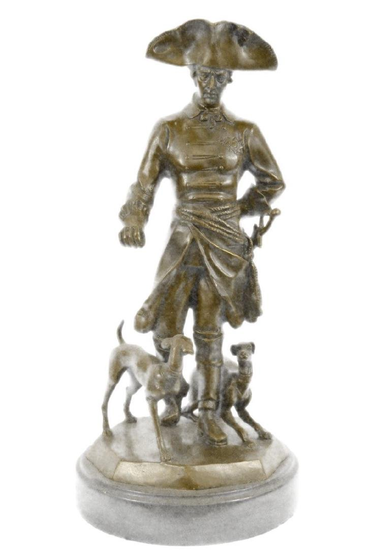 Frederick the Great With Two Dogs Bronze Sculpture