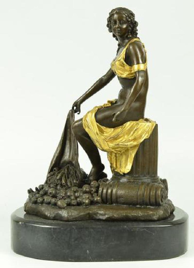 Fantastic Bronze Sculpture Classical Statue on Marble