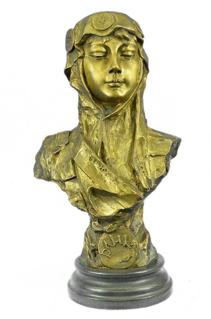 Goddess Bust Bronze Sculpture