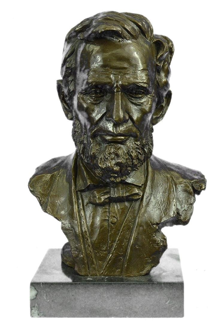 Abraham Lincoln USA President Bronze Sculpture