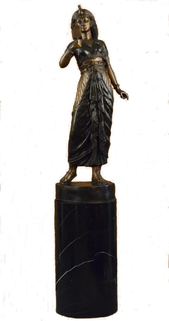 Cleopatra Queen of Egypt Collectible Bronze Sculpture