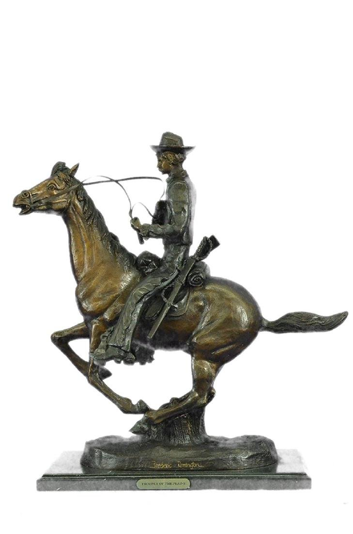 Trooper of the Plains by Cowboy on Horse Bronze