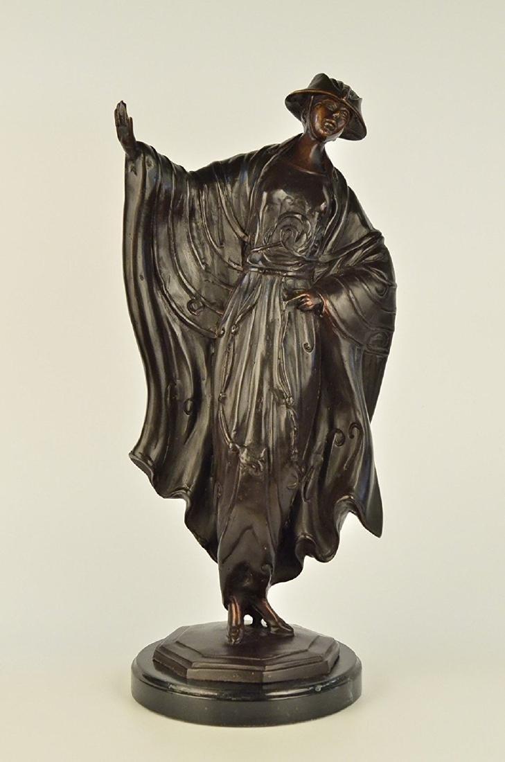 Japanese Belle Bronze Figurine