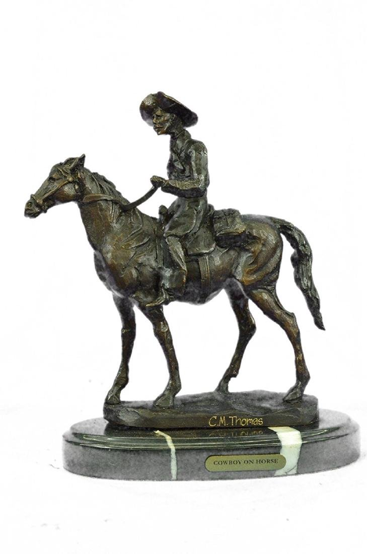 Rogers Bronze Statue on Marble Base Sculpture