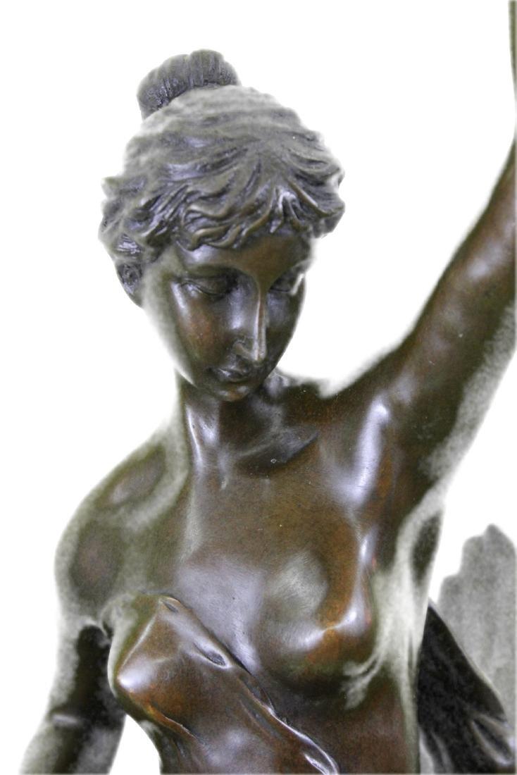 Nude Girl Riding Eagle Bronze Sculpture