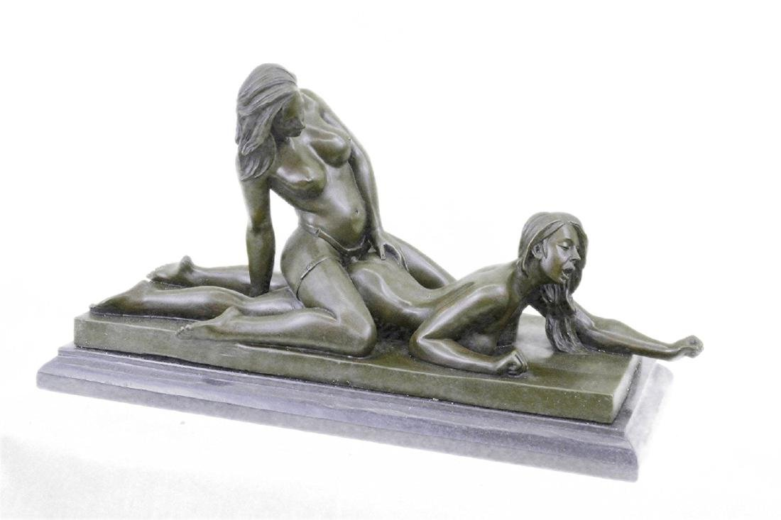 Two Lesbian in Hot Action Bronze Sculpture