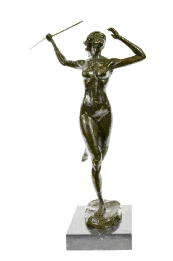 Nude Goddess Diana the Huntress Bronze Sculpture