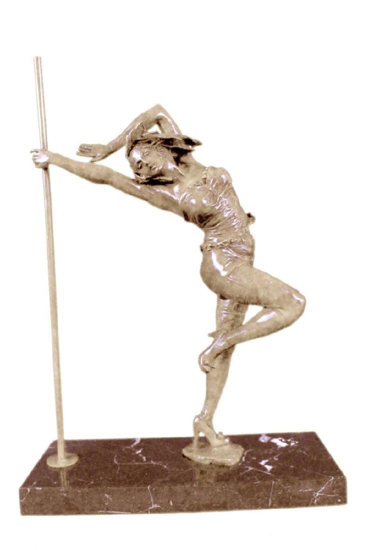 Sexy Pole Dancer Bronze Sculpture