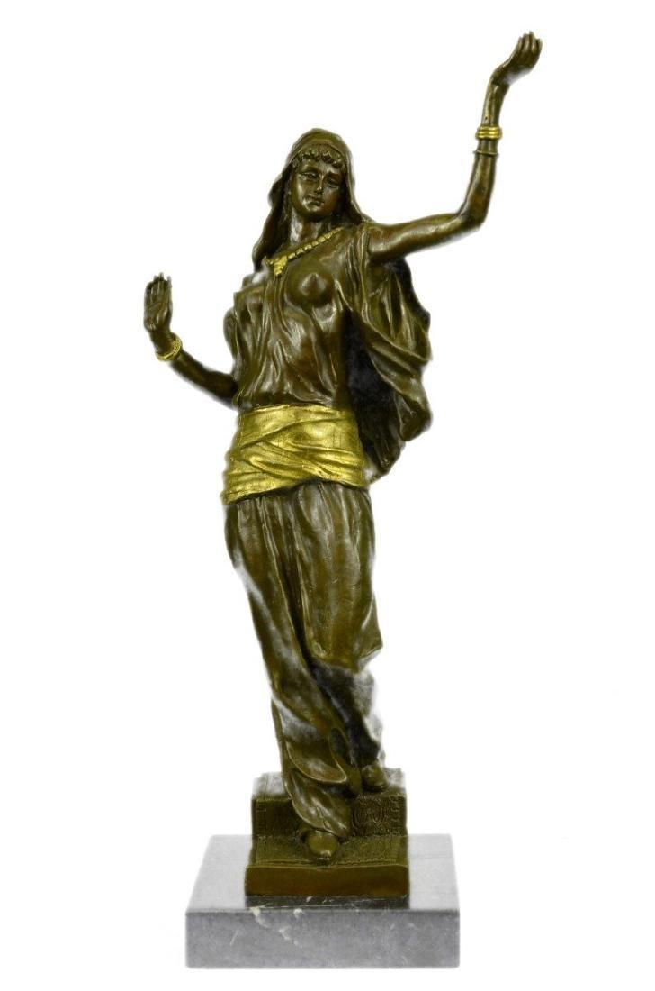 Gilt Gold Bronze Harem Woman Bronze Sculpture