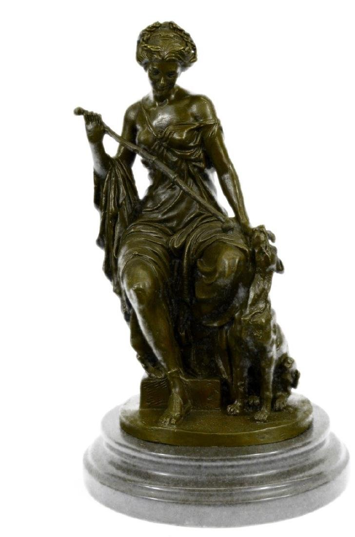 Diana and Dog Bronze Sculpture