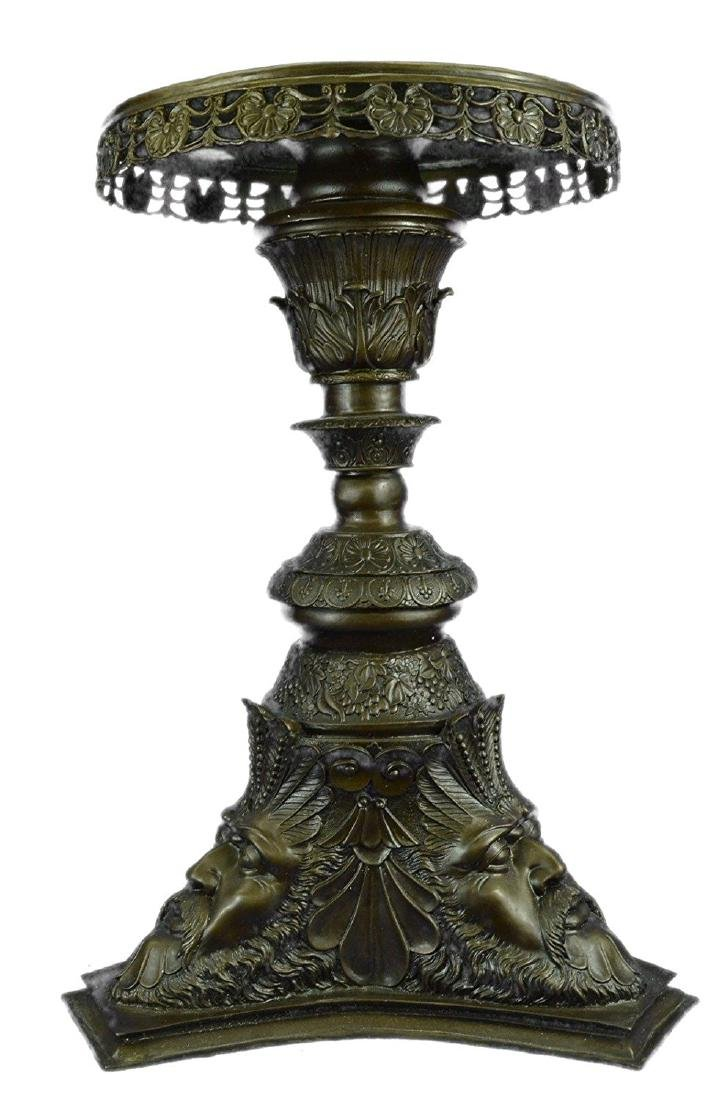 Greek Mythology Zeus Pedestal Table Display Bronze
