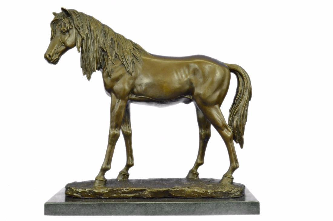 Arabian Horse Trophy Stallion Bronze Sculpture