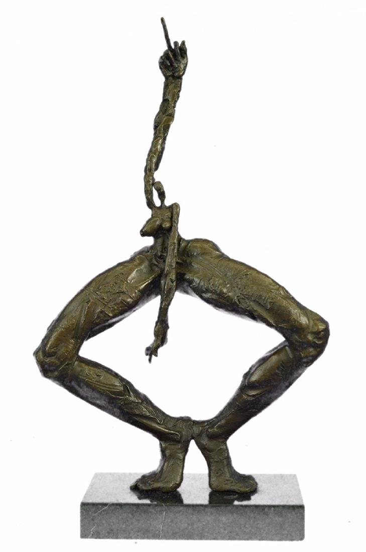 Exaggerated Woman Form Bronze Sculpture