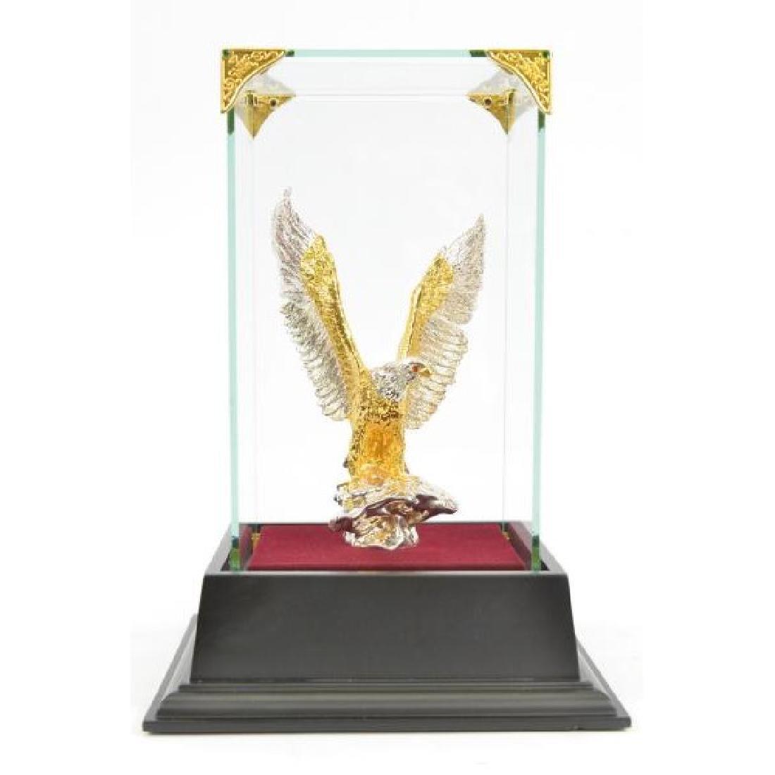 Gold Plexiglases American Bald Eagle Sculpture