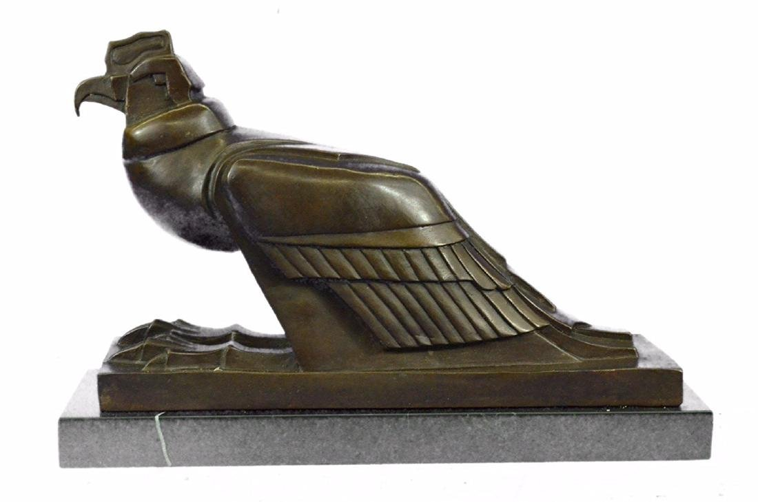 An Egyptian Style Figure of The Horus falcon Bronze