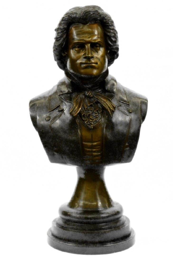 Beethoven Pianist Music Piano Room Bronze Statue