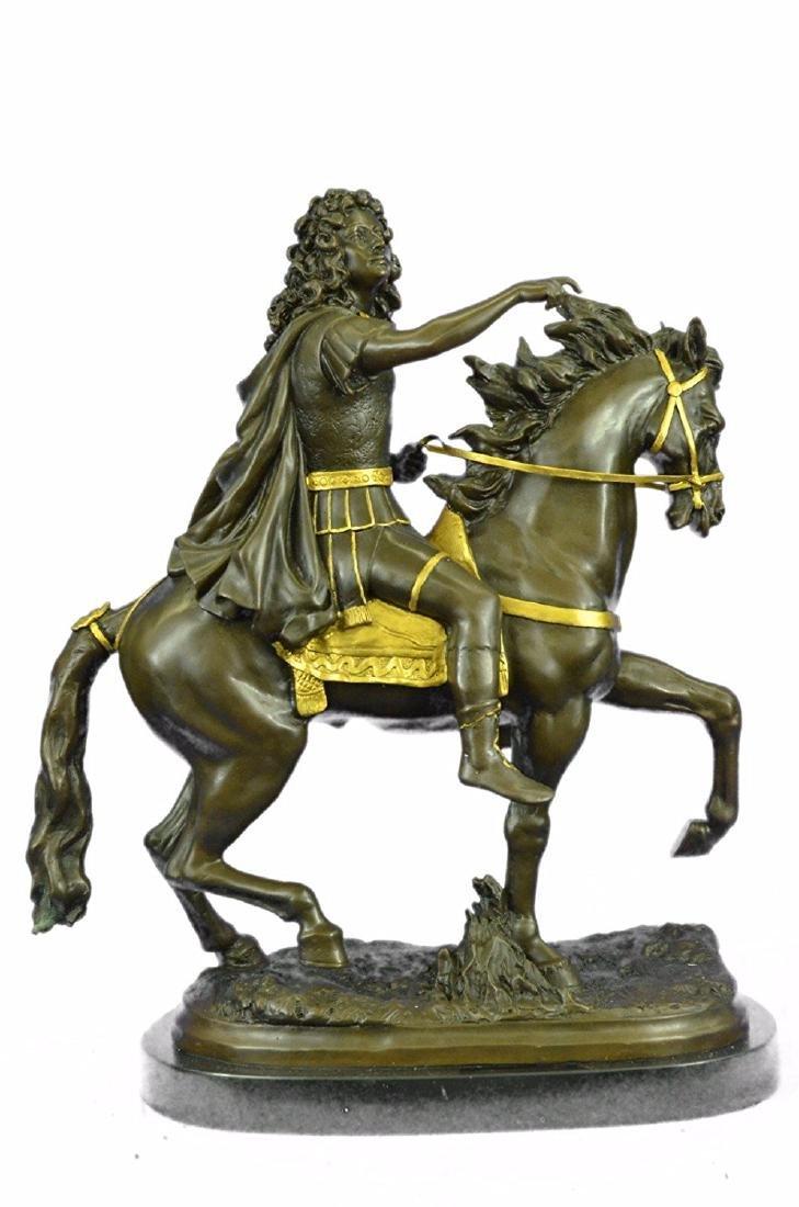 King Louis XV of France on Horseback Bronze Sculpture