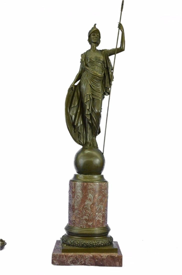 Athena Greek Goddess of War with Medusa Shield and