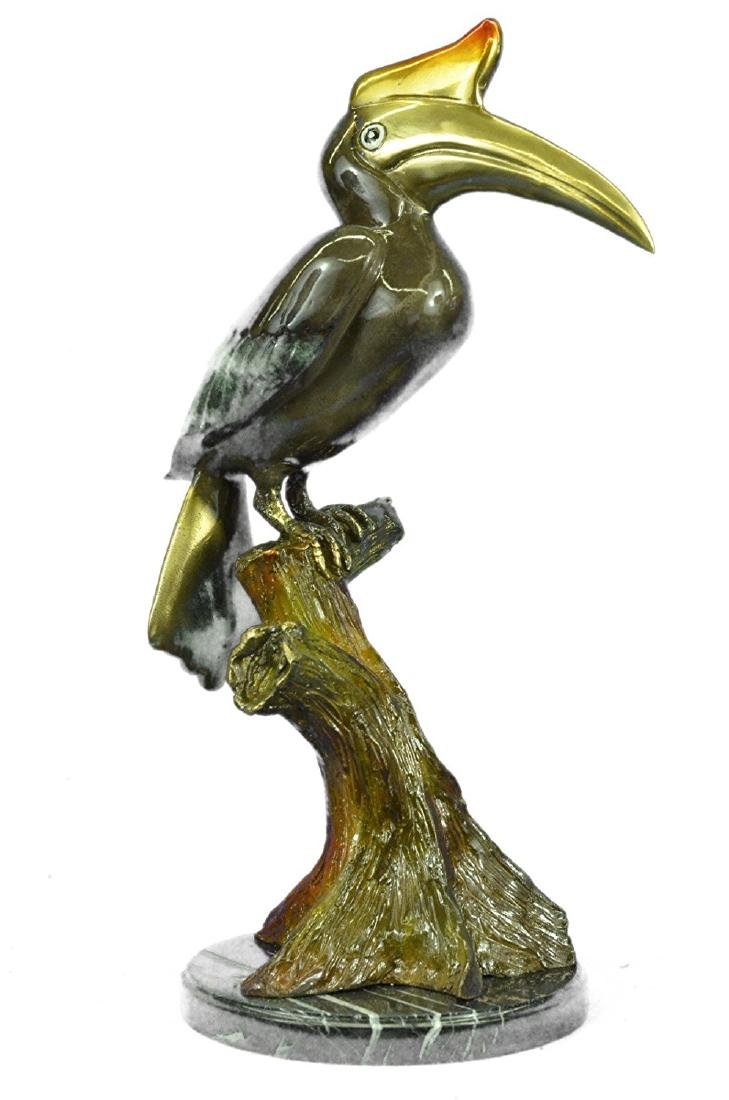 Special Patina Heron Bird Bronze Sculpture