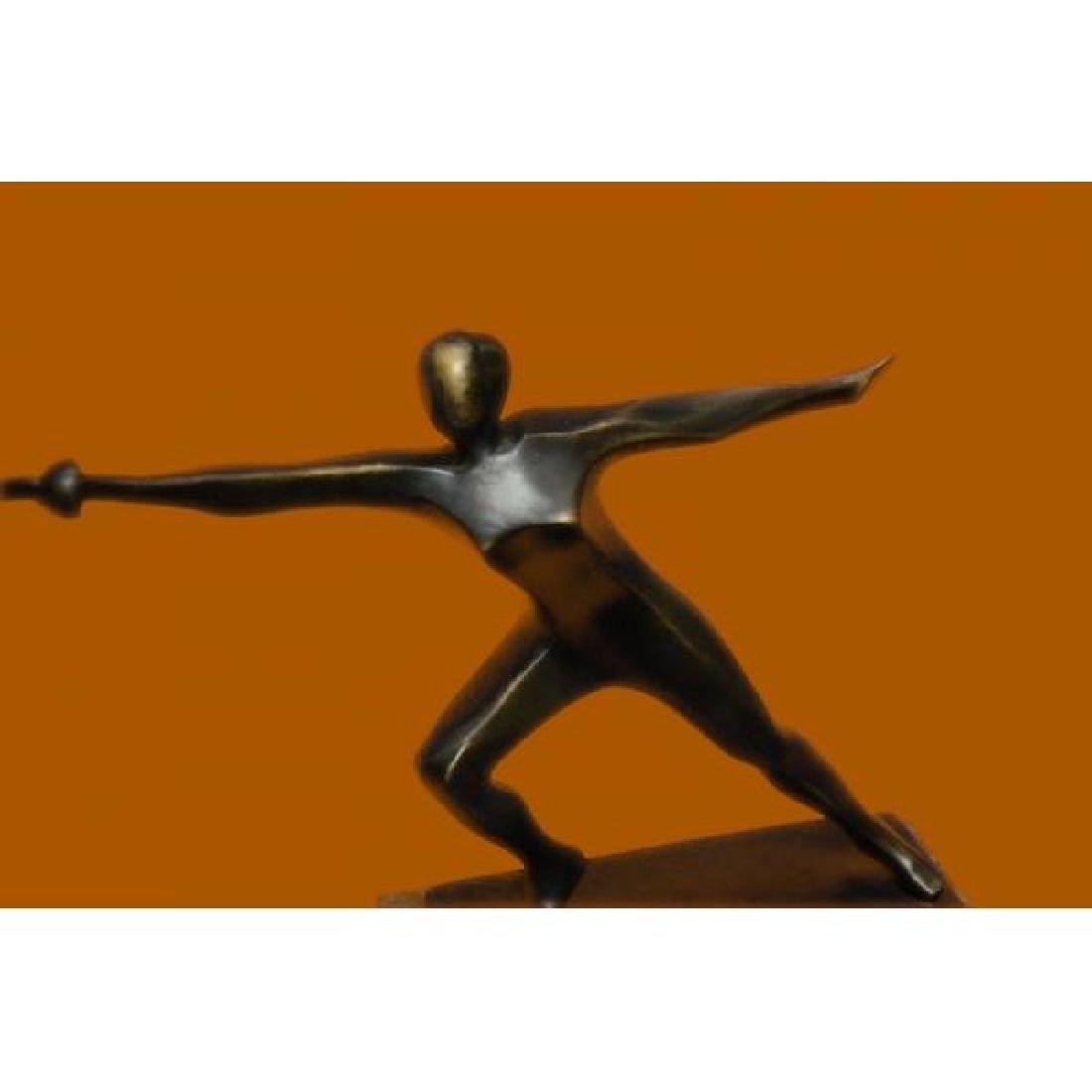 Mario Nick Green Marble Base Hot Cast Canoeing Bronze Sculpture Statue Art Decor