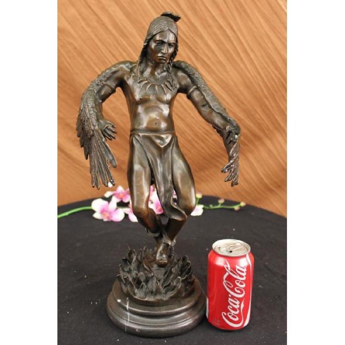 American Indian Warrior Bronze Sculpture - 2