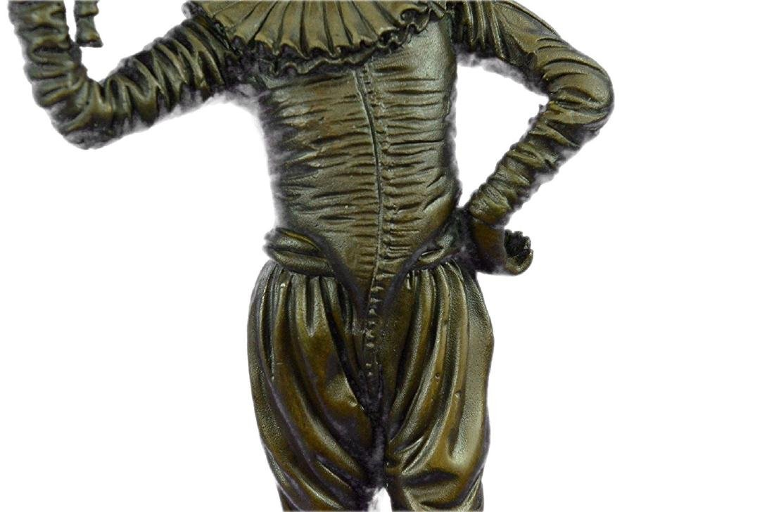 Lively Jester Bronze Sculpture - 4