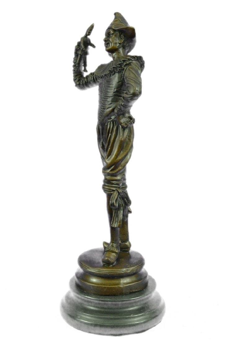 Lively Jester Bronze Sculpture - 5