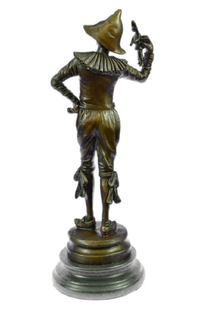 Lively Jester Bronze Sculpture - 7