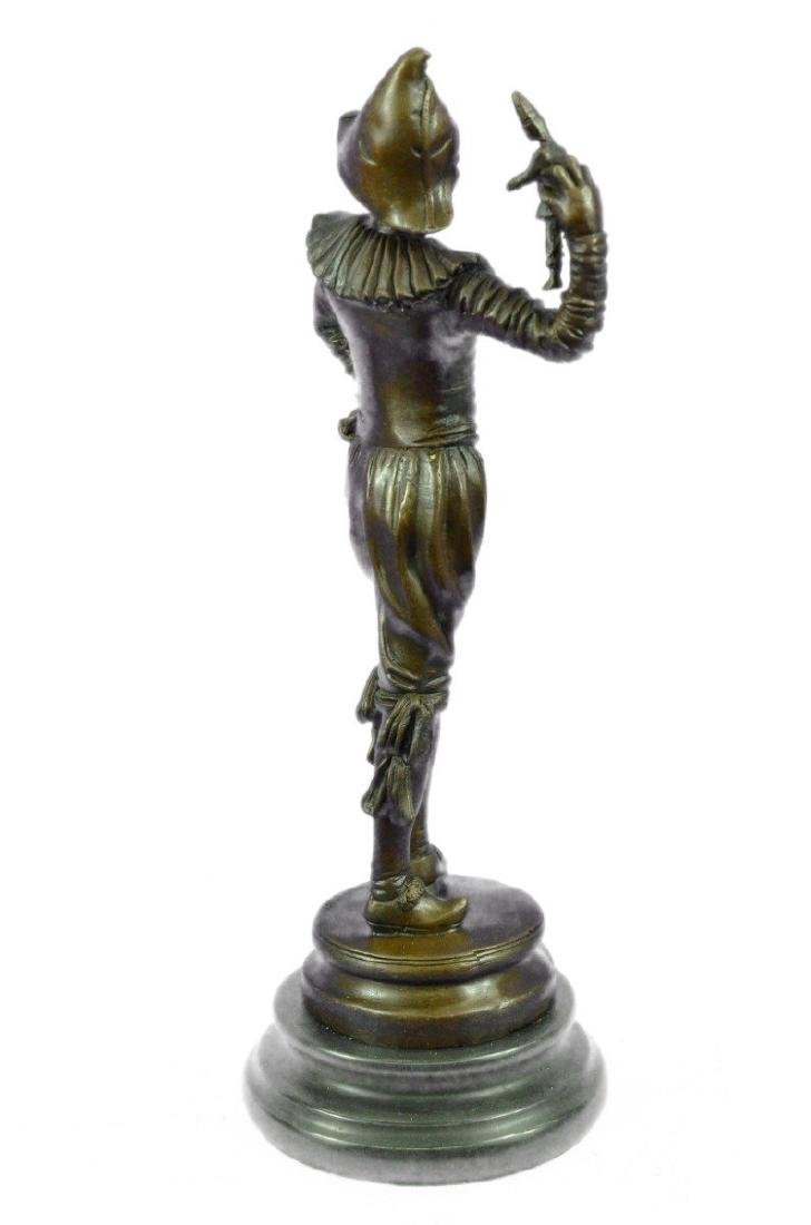 Lively Jester Bronze Sculpture - 8