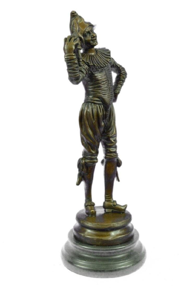 Lively Jester Bronze Sculpture - 9