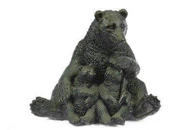 Bear Bronze Statue
