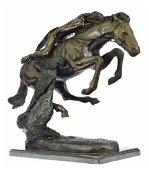 Cheyenne Bronze Statue Horse Sculpture