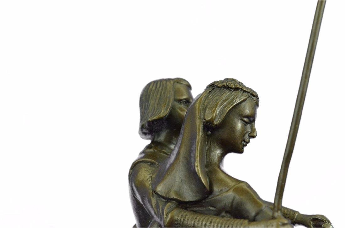 Julius Dark Patina Bronze Figure - 5