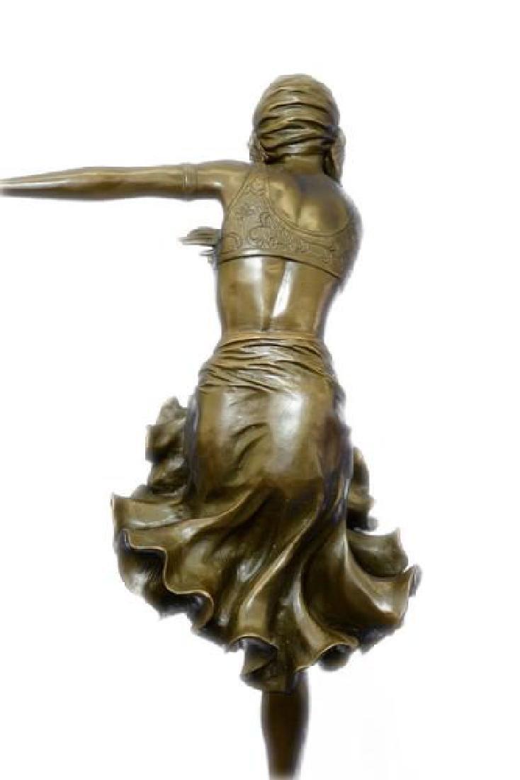 Egyptian Dancer Bronze Sculpture - 3