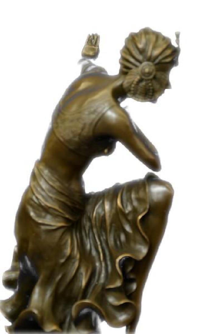 Egyptian Dancer Bronze Sculpture - 4