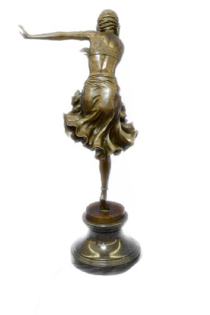 Egyptian Dancer Bronze Sculpture - 7