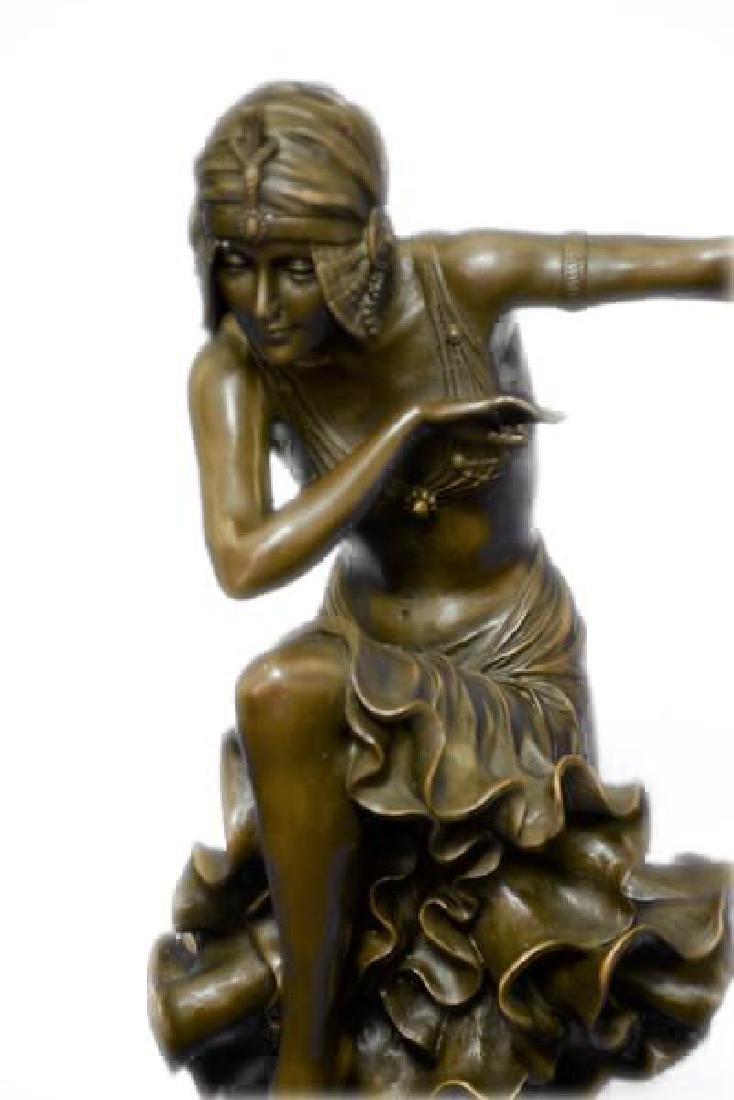 Egyptian Dancer Bronze Sculpture - 8