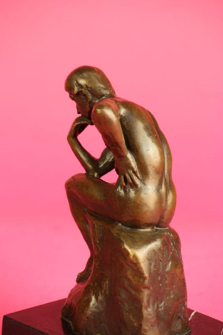 Thinker Man Bronze Statue - 12