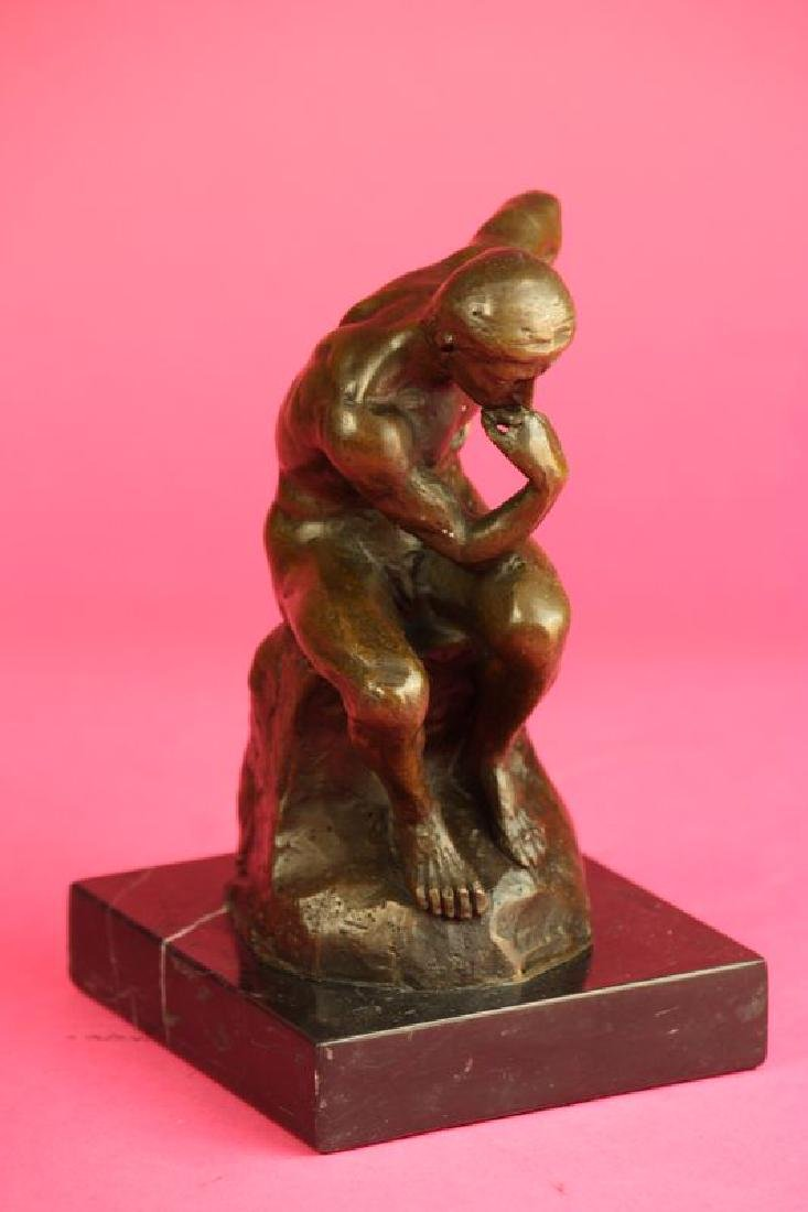 Thinker Man Bronze Statue