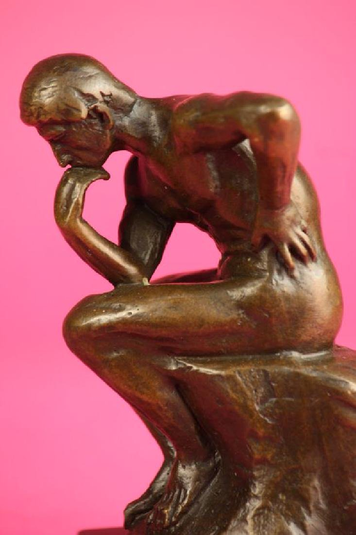 Thinker Man Bronze Statue - 2