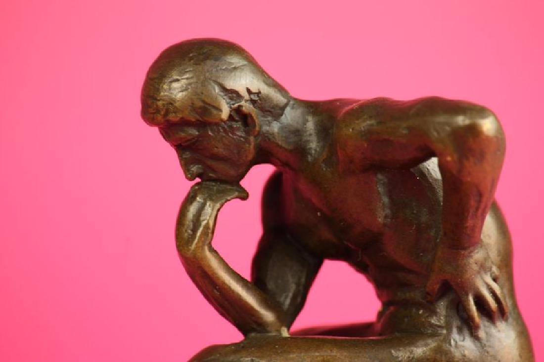 Thinker Man Bronze Statue - 3