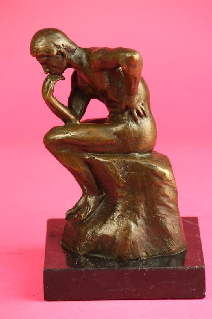 Thinker Man Bronze Statue - 4