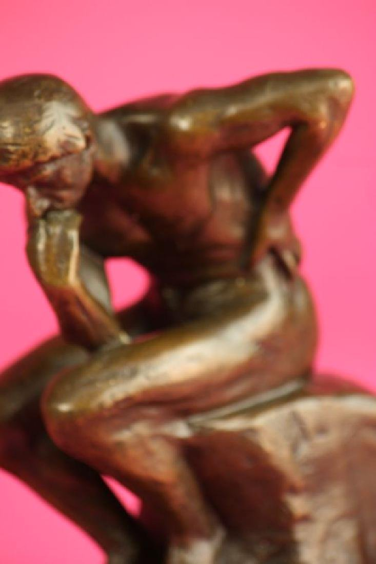 Thinker Man Bronze Statue - 5