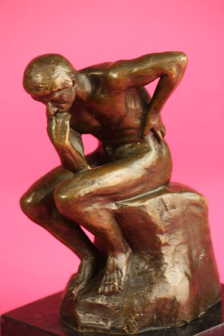 Thinker Man Bronze Statue - 6