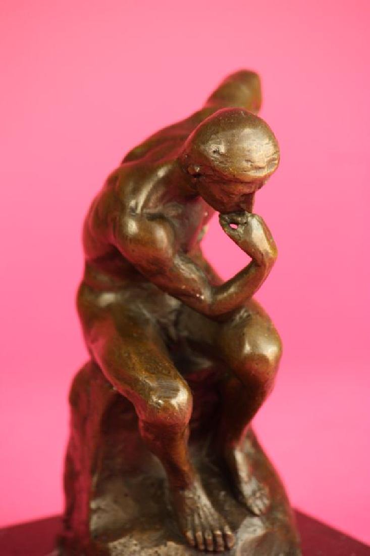 Thinker Man Bronze Statue - 8