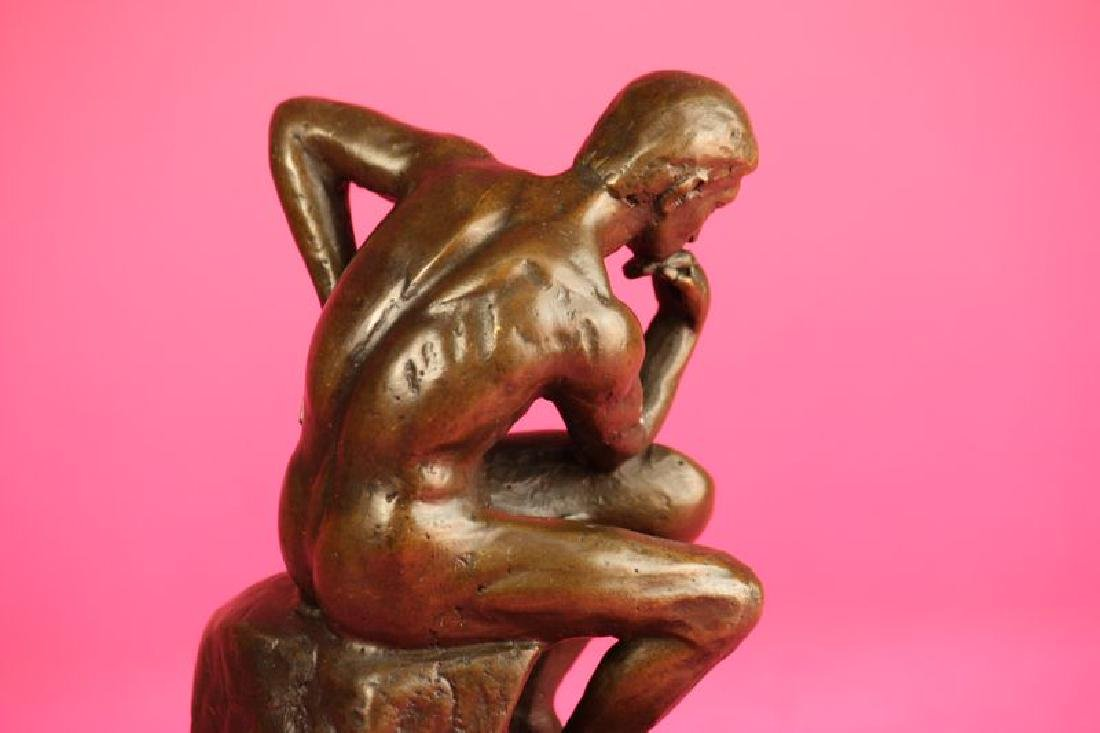Thinker Man Bronze Statue - 9